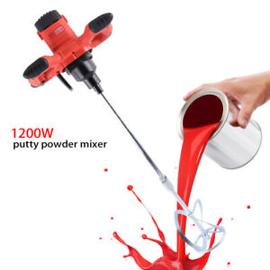 Industrial 1200w Electric Concrete Cement Mixer Grout Mud Mixing Mortar Mixers