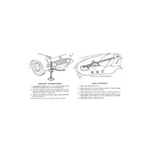 Ford Thunderbird Jack Instruction Decal 1955 56 66 47275 1