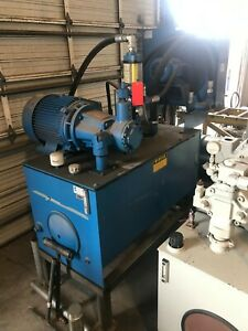 Used Continental Hydraulics Hydraulic Power Pack 160gal 40hp Pump 1500psi