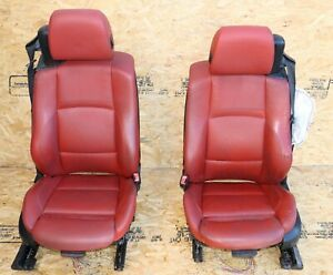 Front Pair Of Left Right Side Seats Complete Oem Bmw E93 Red Sport Heated