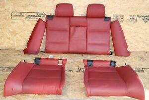 Rear Bench Upper Lower Side Seats Complete Oem Bmw E93 Red Sport Convertible