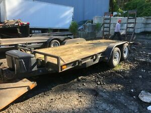 2004 Mudhens 18 x7 Equipment Trailer 12 Gvwr Flatbed Utility