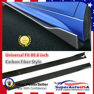 Fit For Honda Accord 2008 2020 Carbon Fiber 86 6 Side Body Skirt Extensions