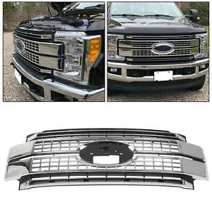 For 17 19 Ford F 250 F350 F 450 F 550 Super Duty Satin Aluminum Platinum Grille