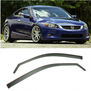 Rain Guards For 08 12 Honda Accord Side Window In channel Visors 2dr Coupe Jdm