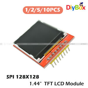 1 2 5 10pcs 1 44 Red Serial 128x128 Spi Color Tft Lcd Module Replace Nokia 5110