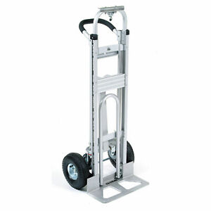 Aluminum 3 in 1 Convertible Hand Truck With Pneumatic Wheels