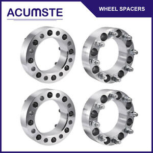 4pcs 2 8 Lug Wheel Spacers Adapters 8x6 5 For Chevy C k 2500 3500 Gmc 14x1 5