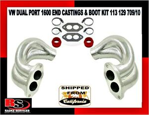 Vw Dual Port End Castings Boot Kit Type 1 2 3 Bug 113 129 709 10 From Radke
