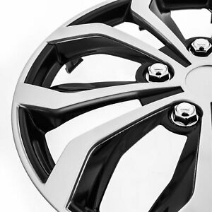 set Of 4 Honda 16 Spyder Snap clip on Wheel Covers Hubcaps Case Silver black