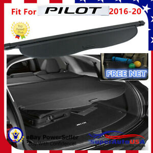 Fit For 2016 2020 Honda Pilot Factory Style Retractable Rear Trunk Cargo Cover