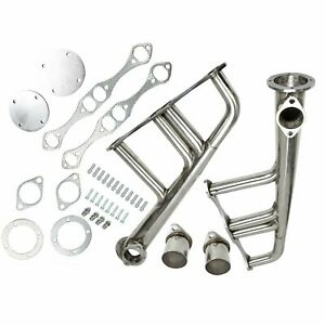Fit Small Block Chevy Sbc 283 305 327 350 400 Lake Style Exhaust Headers