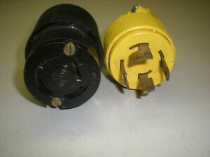 Hubbell 20a 250v Cord Socket With P s Matching Plug