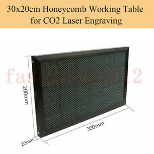 Co2 40w Rubber Stamp Engraving Honeycomb Work Table 30x20cm Cnc3020 Engraver