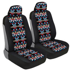 Inca Aztec Tribal Pattern Front Car Seat Covers Beautiful Colorful Design