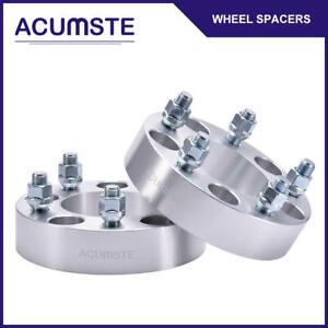 2pc 1 5 inch 5 Lug 5x5 Wheel Spacers Adapter 14x1 5 Studs For 88 99 Chevy C1500