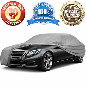 4 Layer Sedan Car Cover Uv Resitant Waterproof All Weather Protection 19 Ft