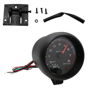 New Quality Car Tachometer Gauge White Inter Shift Light 0 8000 Rpm Background