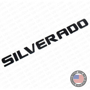 For Chevy Silverado Fender Tailgate Logo Nameplates Letter 3d Decal Emblem Black