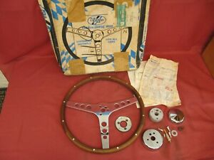 Vintage Nos Pip Wood Steering Wheel 15 Inch With Gm Hub Kit Chevelle