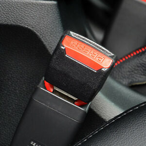 2x Car Accessories Safety Seat Belt Buckle Extension Extender Clip Alarm Stopper