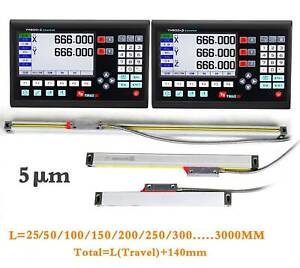 7 Lcd Display Screen Readout Linear Scale 25mm 3000mm For Milling Lathe Machine
