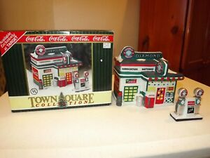 1996 Coca Cola Diamond Service Station Building Town Square Collection NMC