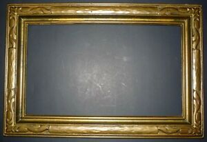 1930 S Gilt Gold 20 X 12 Wood Carved Closed End Frame Newcomb