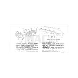 Ford Thunderbird Jack Instruction Decal 1957 66 47281 1