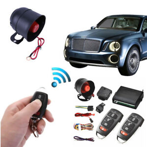 Car Door Universal 1way Burglar Alarm Siren System Protection Remote Control Kit