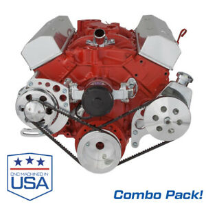 Small Block Chevy Electric Water Pump With Alt And Ps Brackets 283 327 350 Sbc