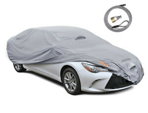 Multi Layer Genuine Waterproof Car Cover For Auto Protect All Weather Large