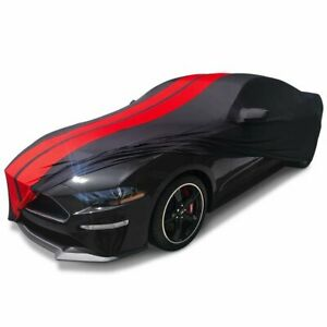 2015 2020 Ford Mustang Indoor Car Cover Ultraguard Sport Stretch Satin Black red