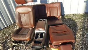 2009 10 Ford F150 King Ranch Leather Seats With Centre Console Brownish
