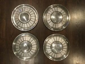 1961 1962 1963 Ford Thunderbird Hubcaps Set Of 4