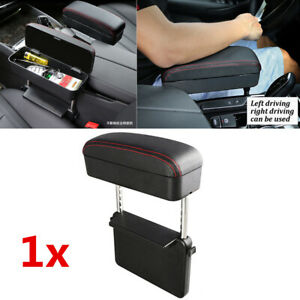 2in1 Car Arm Support Adjustable Armrest Seat Catch Pocket Storage Organizer Box