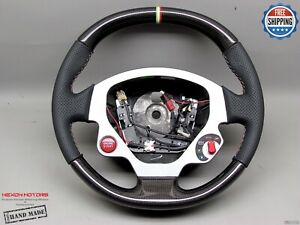 Ferrari F599 Gtb Gto Fiorano Perforated Italian Ring Thick Carbon Steering Wheel
