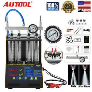 Autool Ct150 Ultrasonic Fuel Injector Tester Cleaner For 12v 24v Car Us Stock