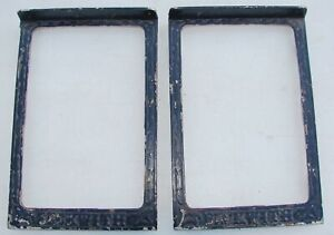 Pair Cast Iron Foot Pedal Frame Beckwith Pump Organ Antique Parts Craft Upcycle