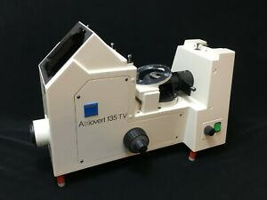 Carl Zeiss Axiovert 135 Tv 451314 Inverted Microscope Body W Power Supply 451385