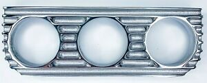 Finned Under Dash Gauge Panel polished Cast Aluminum Triple 3 Made In Usa