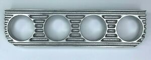 Finned Under Dash Gauge Panel Unpolished Cast Aluminum Quadruple 4 Made In Usa