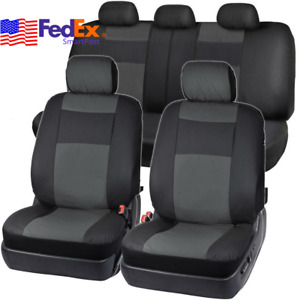 5 Seats Pu Leather Car Seat Cover Rear 40 60 50 50 Bench Protection Universal Us