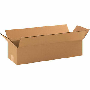 19 X 6 X 4 Long Corrugated Boxes 65 Lbs Capacity 200 ect 32 Lot Of 25