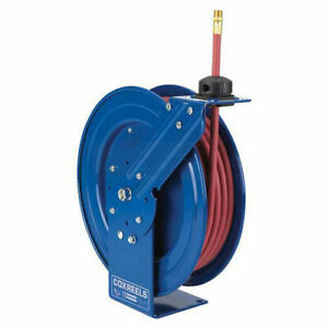 Spring Rewind Reel For Air water oil No Hose 1 2 I d 50 Capacity 300 Psi