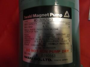 Iwaki Magnet Pump Assy Md 30rzg 3 For Use With Hitachi 704 And 705