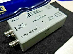 Physical Acoustics 2 4 6 Differential Preamplifier 20 60db 28 Vdc 0 2a 1