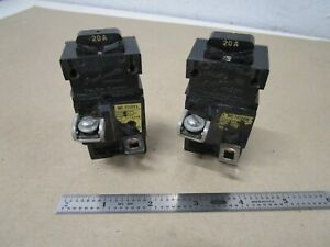 Pushmatic 11120r Circuit Breaker 120 240 V 20 A 1 Pole Lot Of 2