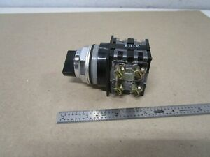 Ge Cr104p Switch Rotary Actuator 2 Position 2 Contact Blocks 2 No 2 Nc