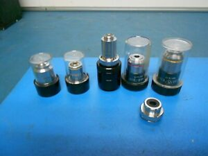 Nikon 4 0 10 160 0 17 Microscope Objective Lens Other Lens Lot Of 6